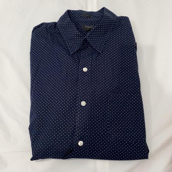 J crew polkadot blue navy shirt 👔